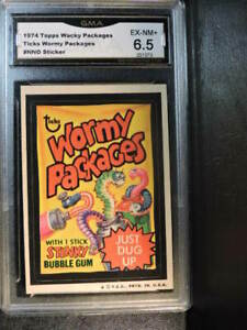Wacky Packages (G#107)Lot of 6,SLEDGE,WORMY PACKAGES,GHOUL HUMOR, plus 2 more
