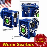 NMRV050 Worm Speed Reducer Worm Gearbox, Speed Ratio 60:1 / 100: 1 New USA STOCK