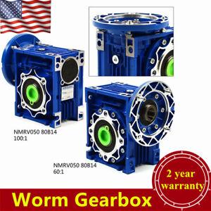 NMRV050 Worm Speed Reducer Worm Gearbox, Speed Ratio 60:1 / 100: 1 USA