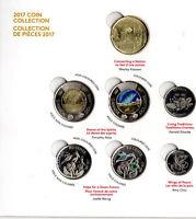 ➡➡ 🍁🍁 2017 Canada 150 My Inspiration 7 Coin SET BU Uncirculated Glow Toonie 🍁