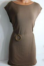 J. Valdi Brown Belted Tunic Swimsuit Cover-Up Dress S Small NWT NEW $62