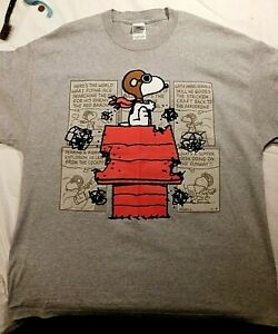 VINTAGE 1980's SNOOPY FLYING ACE T-SHIRT - X-LARGE - NEVER WORN - MADE IN USA