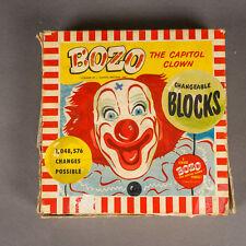 Vintage 1940's Bozo the Capital Clown Wood Block Puzzle Gaston MFG.