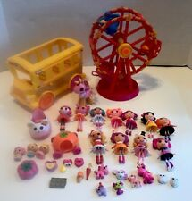 Mini Lalaloopsy School Bus Ferris Wheel Dolls Pets Accessories Lot