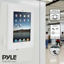Pyle Security Anti-Theft iPad Wall Mount, Lock & Key Tablet Device Holder Case