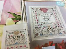 Personalised Silver Wedding anniversary sampler Cross stitch chart only / 1185