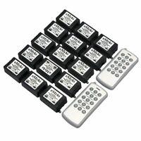 eMylo DC 12V 15x 1CH Wireless RF Relay Remote Control Light Switch 2 Transmitter