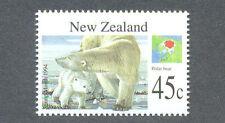 New Zealand-Poloar Bear-Wild Animals - (1829) 1994 mnh-Bears