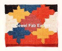 Handmade Kilim Floor Pray Mat Pure Jute Carpet Hand loom throw Runner Rug