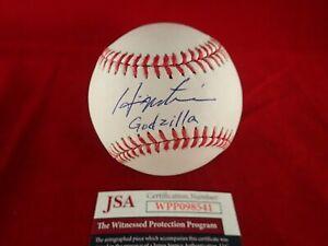 Hideki Matsui Signed Autographed Official ML Baseball W/Godzilla - JSA WPP098541