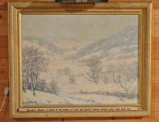 "Rare W.A. EYDEN JR ""Winter in Asheville N.C."" Landscape Hoosier Artist 1930s"