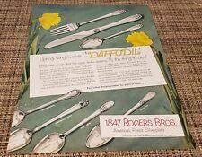 Vintage 1847 Rogers Bros DAFFODIL Flatware Silverware AD 50's Bridal Registry