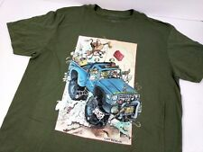 Gary Patterson T-Shirt Men 4x4 Off Road Western Cowboy Size Large Green New NWD