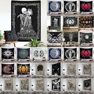 Halloween Decor Skull Tapestry Gothic Mandala Wall Hanging Throw Bedspread Mats