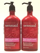 2 BATH & BODY WORKS BLACK CURRANT VANILLA AROMATHERAPY SENSUAL BODY LOTION CREAM