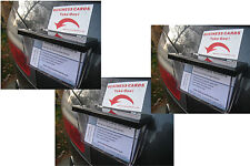 3x BUSINESS CARD DISPLAY BOXES TO ADVERTISE COMPANY ON CAR VAN SHOP MARKET STALL