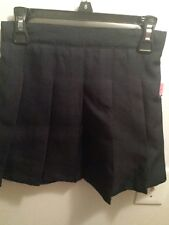 NWT Girls Izod Uniform Pleated Navy Skirt w/builtin shorts 8, 10, 12, 14, 16