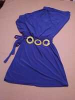New Womens  Wrapper Blue One Shoulder Dress Size Small 4-6