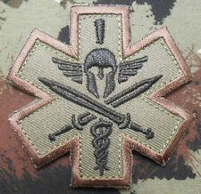 SPARTAN MEDIC EMT EMS MILITARY COMBAT ARMY FOREST VELCRO® BRAND FASTENER PATCH