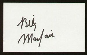 Billy Mayfair signed auto 3x5 index card PGA Golfer