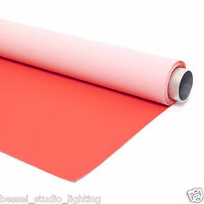 Bessel 2.7M x 6m - 2 en 1 double sens Rouge & rose photo studio toile de fond