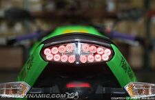 2009 2010 2011 Kawasaki Ninja 650R ER-6n SEQUENTIAL Signal LED Tail Light Clear