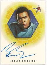 Star Trek 35th Anniversary TOS Autograph Card A25 Booker Bradshaw Dr. M'Benga