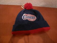 LOS ANGELES CLIPPERS MITCHELL & NESS NBA BEANIE  POM BLUE/RED