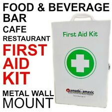 First Aid Kit Metal Wall Mount CAFE RESTAURANT SANDWICH BAR OHS WHS workplace