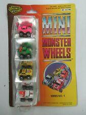1987 Road Champs Mini Monster Wheels Series 1 4 Car Pack