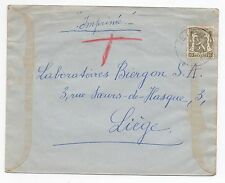 1936 BELGIUM Cover JETTE To LIEGE SG729