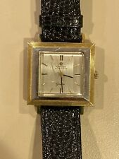1965's MID SIZE OMEGA GENEVE SQUARE 18K YELLOW GOLD CASE AUTOMATIC UNISEX WATCH