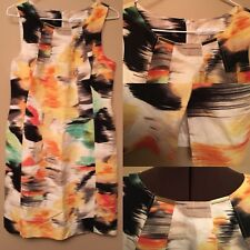 Calvin Klein Size 6 Multicolored Sheath Dress Career Cocktail Woman