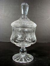 Drageoir cristal taillé decor fleurs Baccarat St Louis ? crystal sweet box TBE