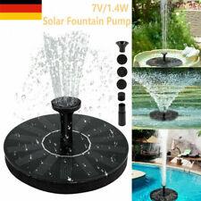 Solarpumpe Springbrunnen Teichpumpe Garten Brunnen Fontäne Wasserspiel 1.4W