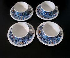 """4x Villeroy & Boch Tee Tasse  """"Izmir"""" 70s set of tea cup + saucer annees 70"""