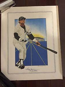 REGGIE JACKSON Hand Painted and (facsimile)signed by Reggie Jackson