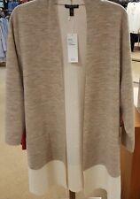 3X Eileen Fisher MapOat Merino Doubleknit W/Organic Cotton&Cashmere Kimono Cardi