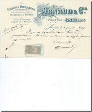 Facture - Arnaud & Cie Grains & Fourrages à Moulins 1897