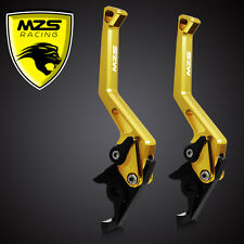 MZS CNC Brake Clutch Levers For Yamaha YZF R6 2005-2013 YZF R1 2004-2008 Gold