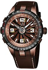 Perrelet Men's Turbine Pilot Brown Leather Strap Automatic Watch A1094/1A