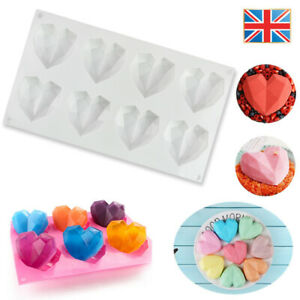 3D Love Heart Shaped Silicone Bakeware Mould Chocolate Ice Jelly Baking DIY Mold