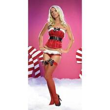 New LEG AVENUE 31017 Fishnet Stockings With Bow & Candy Cane Charm One Size Red
