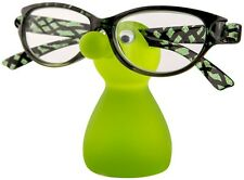SNOZZLES Spectacles Glasses Specs Holder Stand - Lime Green - NEW