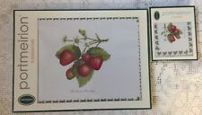 Portmeirion Six Placemats & Six Coasters Strawberry Pattern. Boxed.
