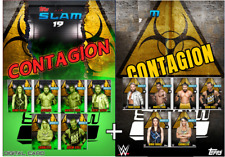 2019 CONTAGION CLEAN YELLOW + INFECTED GREEN SET OF 12 Topps WWE Slam Digital