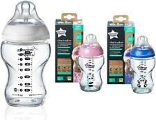 Tommee Tippee Glass Bottle 250ml Natural Baby Feeding / boys / girls /clear