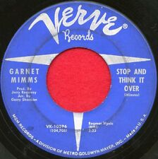 """GARNET MIMMS """"Stop And Think It Over/I Can Hear...Crying"""" Verve 10596 VG Soul"""