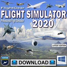 Flight Simulator 2020 Flightgear Full Pro Flight Sim For Windows© 10, 8, 7 PCs