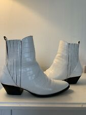 White leather women's 'OTHER STORIES' Ankle Boots Size 37